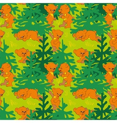 Bears in the wood vector image vector image