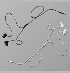 earphones two items vector image