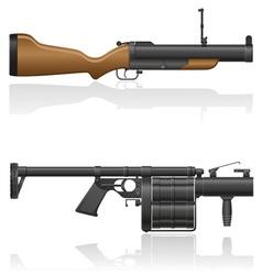 grenade gun 03 vector image vector image