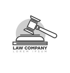 law company office monochrome logotype with judges vector image vector image