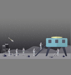 moon exploration concept in vector image