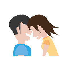 portrait couple romantic laughing vector image vector image