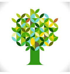 tree symbol with geometric pattern concept vector image