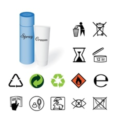 Warning signs environmental signs product vector image vector image
