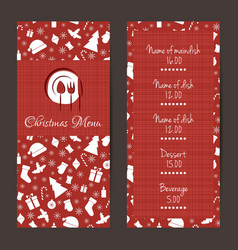 Christmas festive menu design vector image