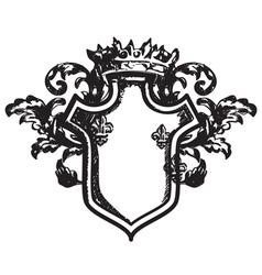Heraldic coat of arms vector image