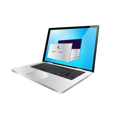 laptop safe vector image