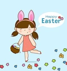 Little bunny girl vector image vector image
