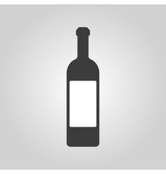 The wine icon Bottle symbol Flat vector image