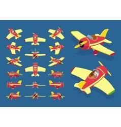 Toy plane vector image