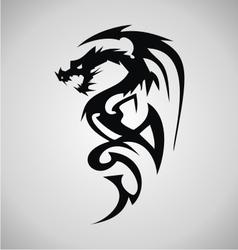 Tribal dragon tattoo design vector