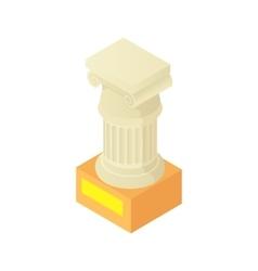 Antique column pillar icon cartoon style vector image