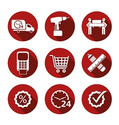 Basic simple shopping icons vector image vector image