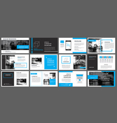 blue element for slide infographic on background vector image