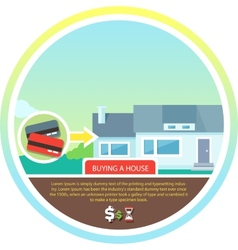 Buying house vector image vector image