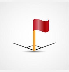 Corner flag vector