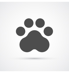 Footprint paw trendy icon vector