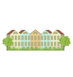 Houses and garden vector image