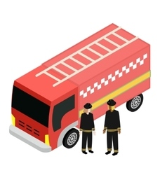 Of Fire truck Car Isolated vector image vector image