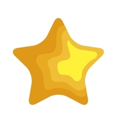 Star christmas decoration isolated icon vector