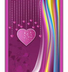 valentines day violet abstract background vector image vector image