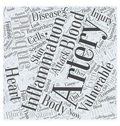 Vulnerable Plaque in Heart Disease Word Cloud vector image vector image