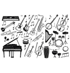 a set of musical instruments collection of vector image