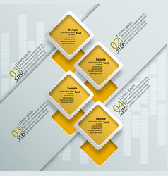 Abstract 3d paper infographics vector