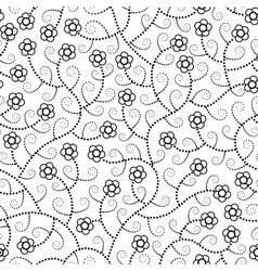 abstract flowers seamless pattern vector image