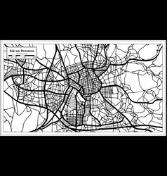 Aix-en-provence france city map in black and vector