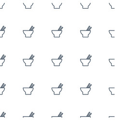 Asian food icon pattern seamless white background vector
