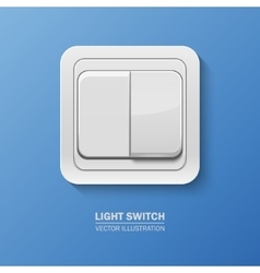 Background with realistic light switch vector