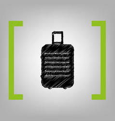 baggage sign black scribble vector image
