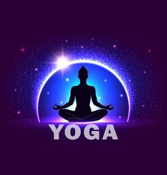 Banner international yoga day june 21st vector