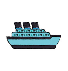 big ship cruise vector image