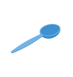 blue spoon isolated isometry cutlery on white vector image