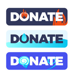 button donate or material assistance vector image
