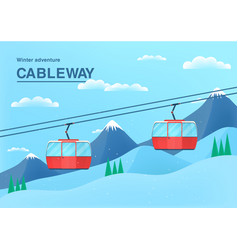 Cable car with place for text vector