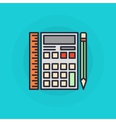 Calculator flat symbol vector image