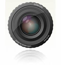 Camera zoom lens vector