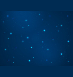 cartoon space background stars cosmos night vector image