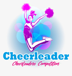Cheerleader competition vector