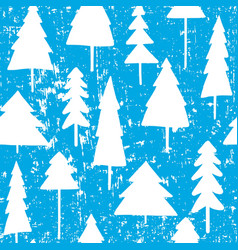 christmas and new year seamless pattern with trees vector image