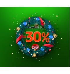 christmas sale special offer promo banner thirty vector image