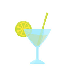 cocktail with lime vector image vector image
