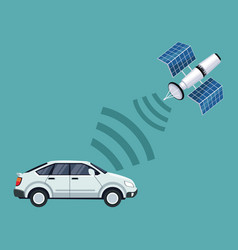 color background of car vehicle with satellite vector image