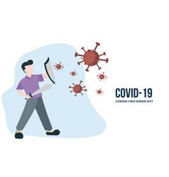 covin-19 fight vector image