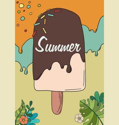 Cute a ice cream vector