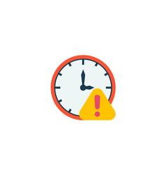 Deadline icon flat element of vector