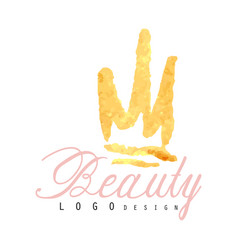 Delicate logo original design for cosmetics shop vector
